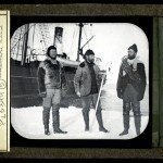 Expedition crew, ship in background, Canada